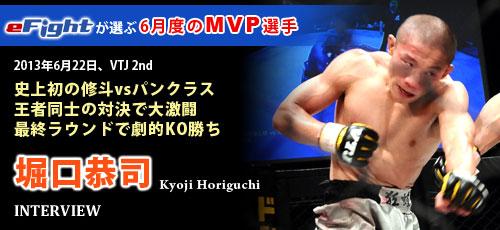 2013年6月度MVP 堀口恭司
