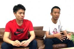 AbemaTVで格闘技コンテンツを担当している田邊友則氏(左)と北野雄司氏(右)