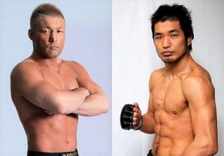 元DEEP王者の桜井(左)と元修斗王者の佐藤(右)がサバイバルマッチ