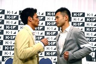 初参戦の日菜太(右)に対して敵意をむき出しにする松倉(左)
