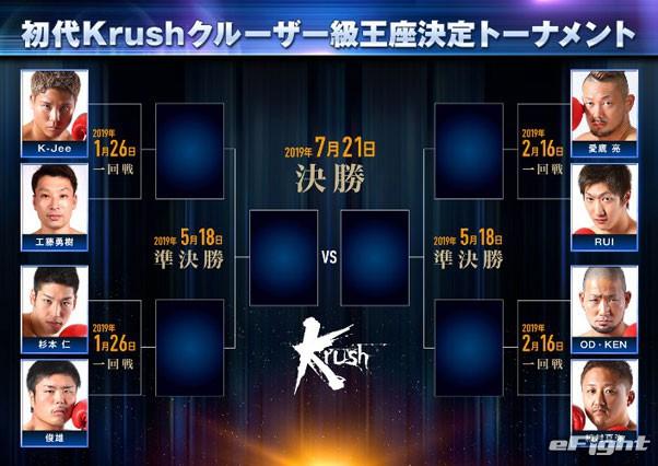 【Krush】初代クルーザー級王座決定トーナメント開戦