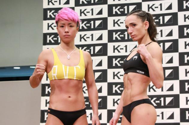 【K-1】ISKA世界王者ペリトーレが割れた腹筋で計量パス、K-1王者KANAに「十分勝てる」と自信