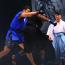 【巌流島】ヘビー級の新星シビサイ、ダンベの使い手を突き飛ばす
