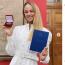 """20歳の美女柔道家ビロディドが国立キエフ大学で学士号修得、東京五輪""""金""""とジャーナリストを目指す"""